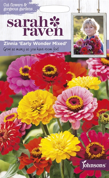 Sarah Raven Cut Flowers Zinnia Early Wonder Mixed seed