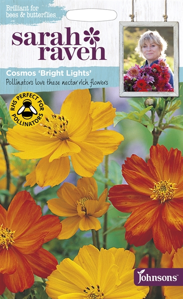 Sarah Raven Wildlife Flowers Cosmos Bright Lights seed