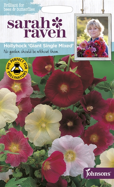 Sarah Raven Wildlife Flowers Hollyhock Giant Single Mixed seed