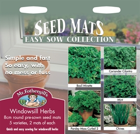 Windowsill Herbs Seed Collection Seed Mats