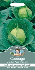 Cabbage Golden Acre Primo Seed