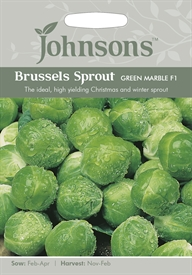 Brussels Sprout Green Marble F1 Seeds