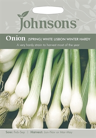 Onion Spring White Lisbon Winter Hardy Seeds