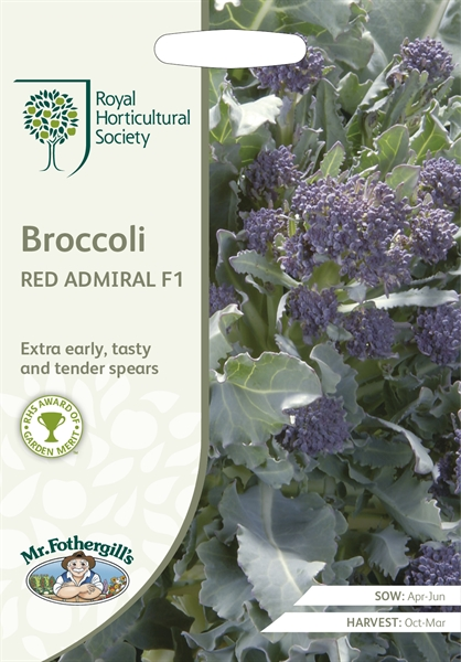 RHS Broccoli Sprouting Red Admiral F1 Seed