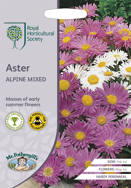 RHS ASTER Alpine Mixed Seed