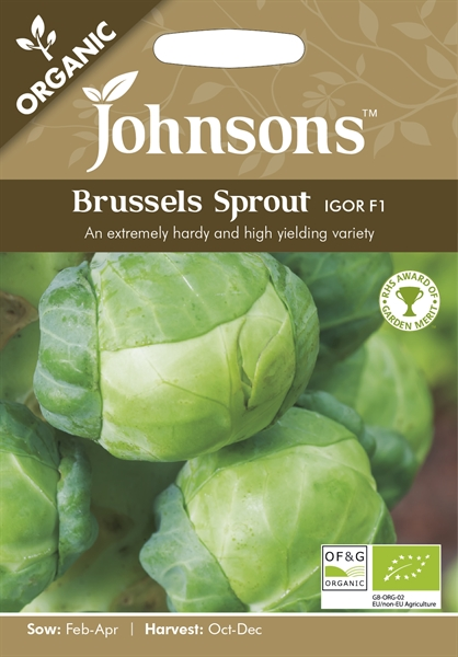 Brussels Sprout Igor F1 Organic Seed