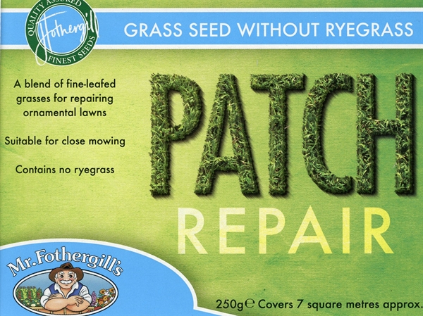 Mr Fothergills Patch Repair without ryegrass Grass Seed 250g 7 sqm