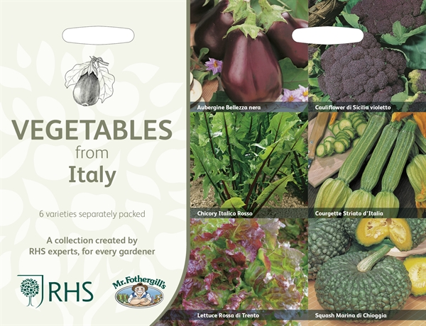 RHS Vegetables from Italy Seed Collection