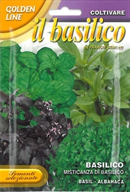Mixed Basil <i>Basilico misticanza &lsquo;Golden Line&rsquo;</i> seed