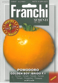 Tomato <i>Pomodoro Golden Boy Ibrido &lsquo;Special Selection&rsquo;</i> seed