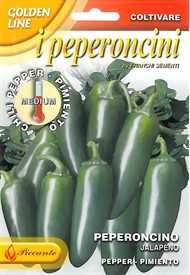 Chilli Pepper<i> Jalapeno Peperoncini &lsquo;Golden Line&rsquo;</i> seed