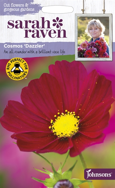 Sarah Raven Cut Flowers Cosmos Dazzler seed