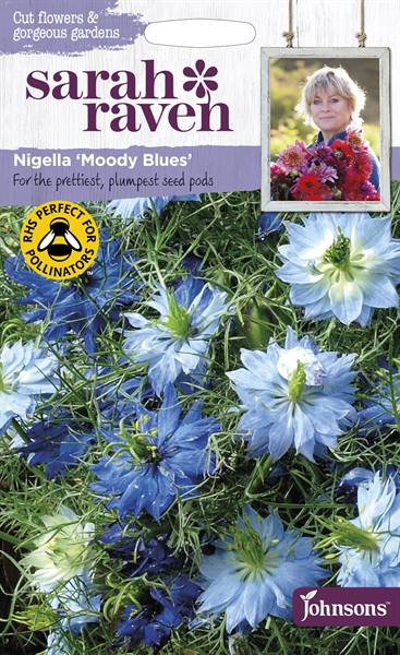 Sarah Raven Cut Flowers Nigella Moody Blues seed